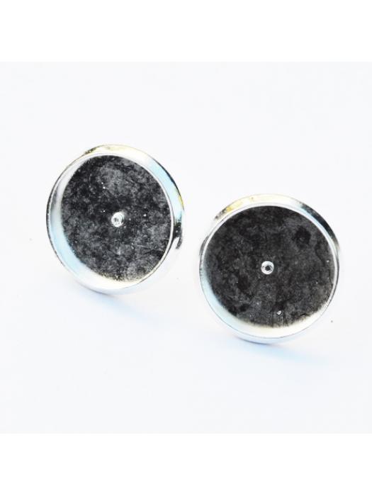 Earring setting silver 12 mm