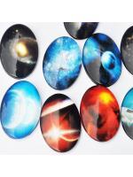 Glass Cabochon sky 18 x 25 mm