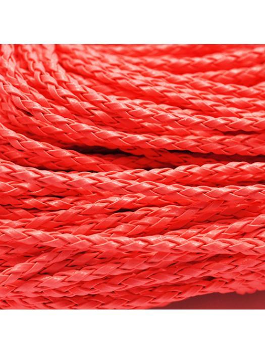 Leather cord orange