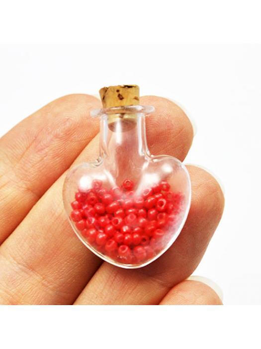 Glass tube heart 3 d