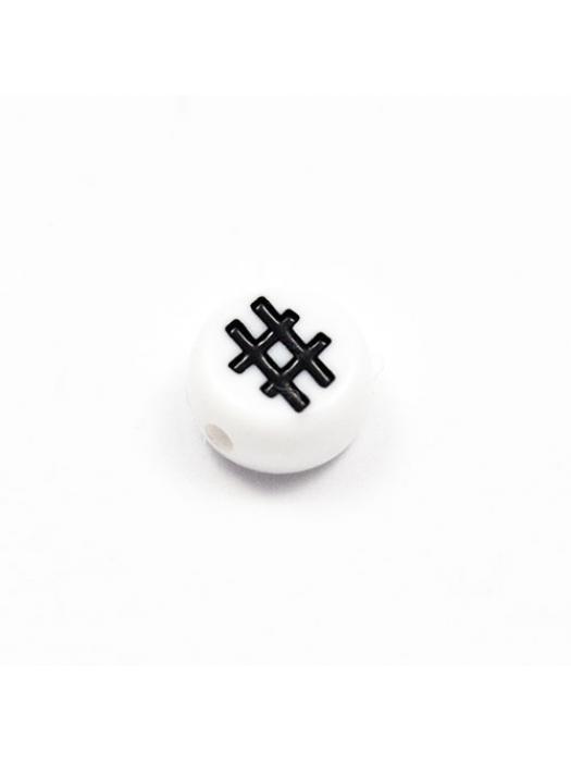 Acrylic bead # 5 pcs