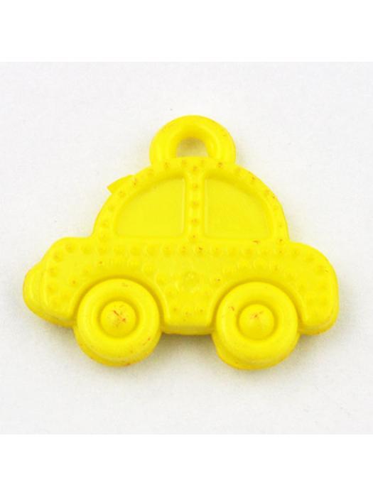 Pendant acrylic car yellow