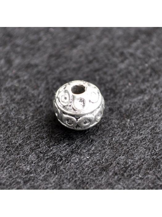 Bead 8 mm silver