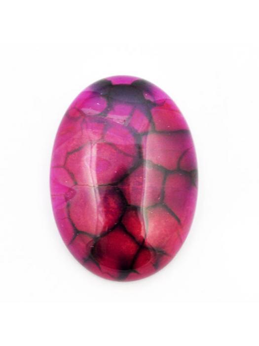 Cabochon agat pink 25x 35 mm