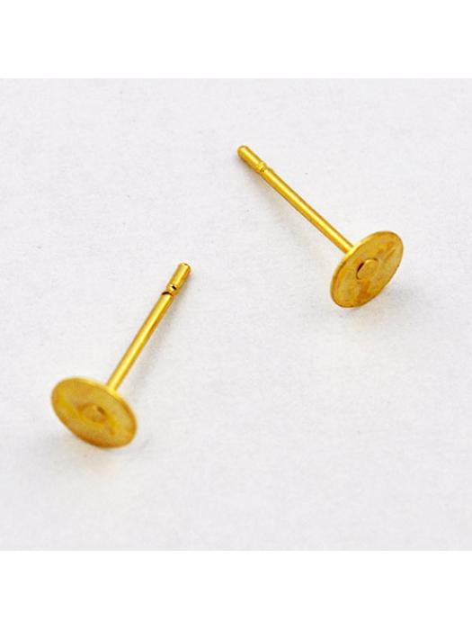 Ball earring gold steel 12 x 5 mm