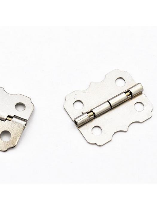 Door Butt Hinges 24 mm silver