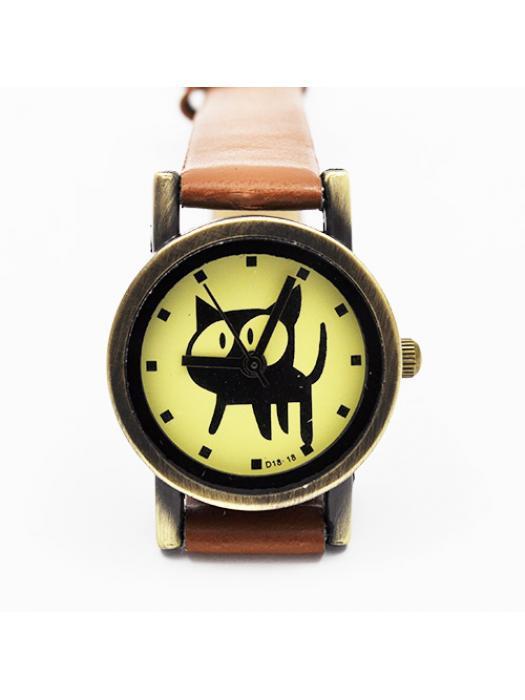 Watch cat light brown