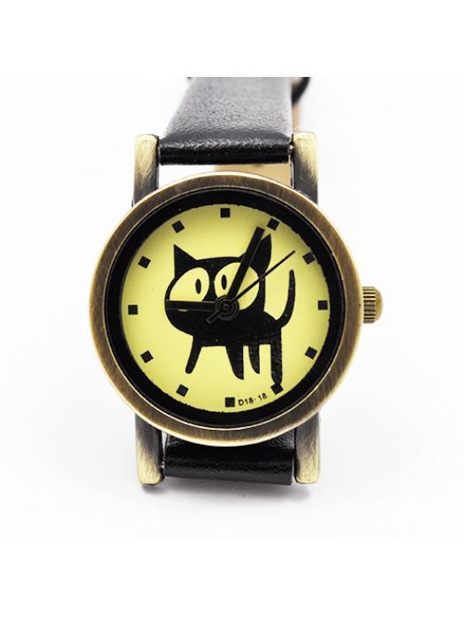 Watch cat black