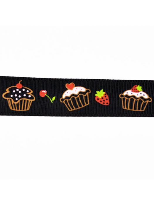 Ribbon muffin black