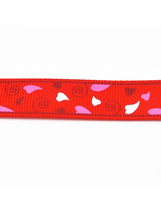 Ribbon red hearts